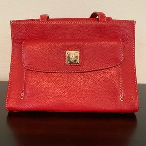 Red Dooney & Bourke Janine Pebble Leather Handbag